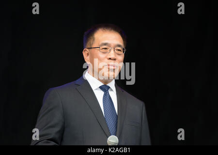 Mr. Ning Wang, Vice Mayor of Peking, at the China Festival 2017 in Cologne, Germany. - Stock Photo