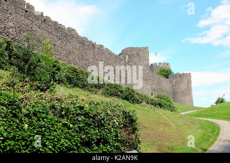 Conwy, Wales, UK. July 31, 2017. The historic and ancient walls taken from outside of the town of Conwy in Wales.