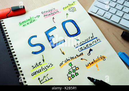 SEO search engine optimization concept. - Stock Photo