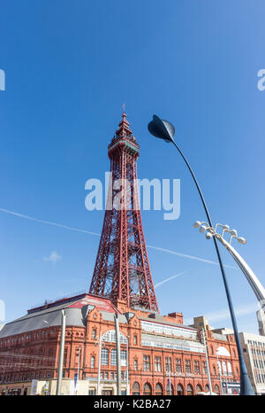 Blackpool, Fylde Coast, Lancashire, England.  The Blackpool Tower and Tower Buildings, opened on14 May 1894 and - Stock Photo