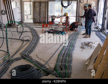 Electrical wiring in new home construction Stock Photo: 78055092 - Alamy