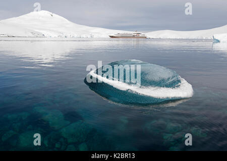 'Le Boreal' at Port Lockroy, Goudier Island, Antarctic Peninsula, April 2014.  All non-editorial uses must be cleared - Stock Photo