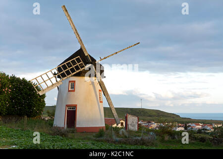 Old windmill, Santa Maria Island, Azores, Portugal, Atlantic Ocean, September 2012. - Stock Photo
