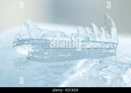 Icicles macro view. Winter cold weather landscape. Soft focus - Stock Photo