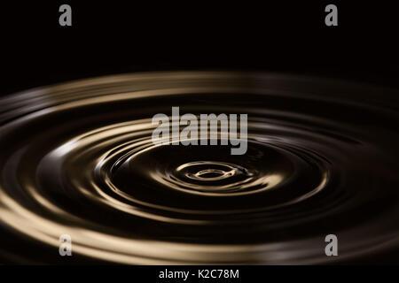 Chocolate splash. Liquid waves background. plastic, ripple effect. soft focus. copy space - Stock Photo