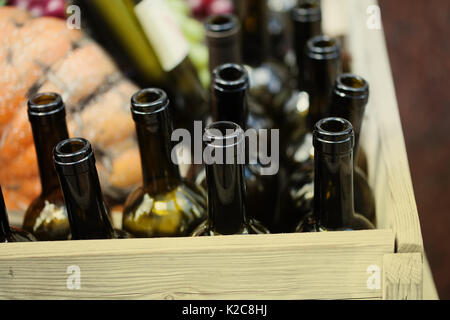 Empty soft drinks bottles in a crate stock photo royalty for Empty wine crates