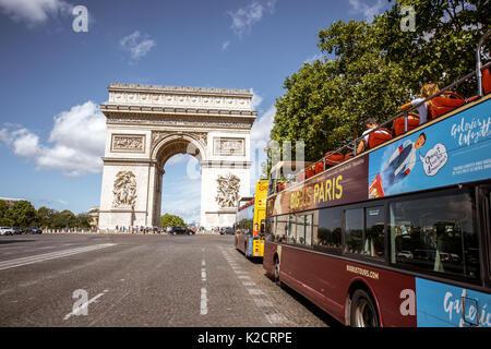 Cityscape view in Paris - Stock Photo