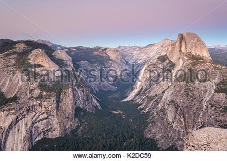 Half Dome and Yosemite Valley from Glacier Point, California, USA. October 2013. - Stock Photo