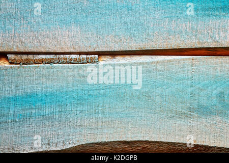 Old wood rustic blue background or texture. - Stock Photo