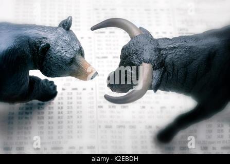 Bull Bear - Stock Photo