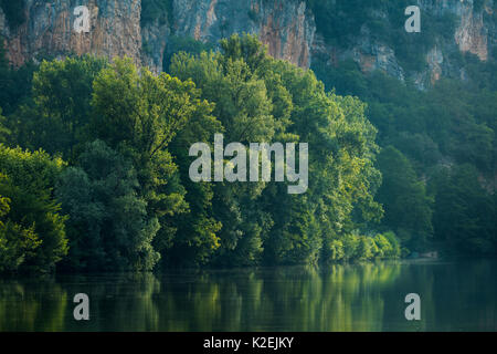 River Lot at Vers, Quercy, France, July 2015. - Stock Photo