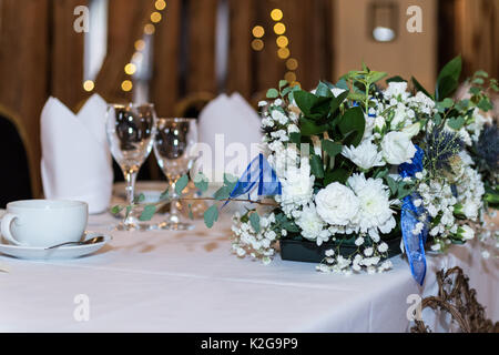 Wedding day images showing - love, marriage, flowers, cakes and flowers - Stock Photo