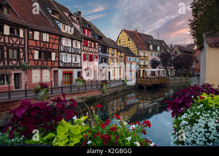 City of Colmar. Cityscape image of old town Colmar, France during sunset. - Stock Photo