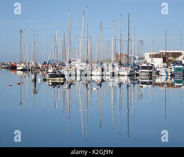 Lady B marina Shoreham-by-sea - Stock Photo