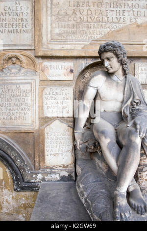 Statues in the garden at Palazzo Corsini, in Florence, Italy - Stock Photo