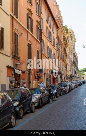 Via Francesco Crispi, street in Rome, Italy - Stock Photo