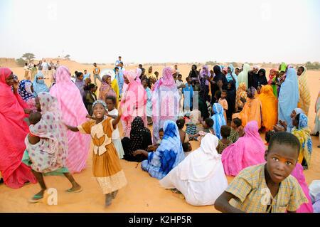 A muslim celebration in Chinguetti, Mauritania - Stock Photo