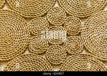 Pattern nature for background of handicraft weave texture wicker surface. - Stock Photo