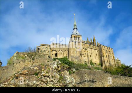 Le Mont-Saint-Michel in Normandy, France. - Stock Photo