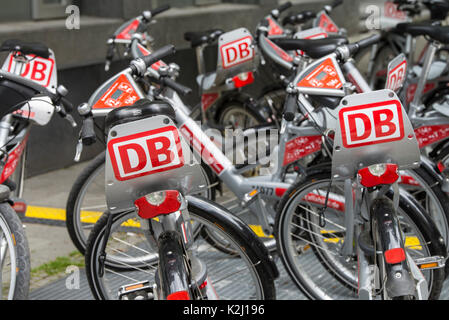 Bicycles from Call a Bike of Deutsche Bahn - Stock Photo