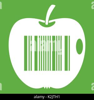 Code to represent product identification icon green - Stock Photo