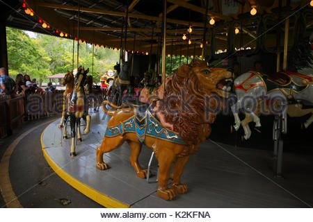 Toronto, Canada. 30th Aug, 2017. Final days of Antique Carousel (sold for 3 million $) at Centreville amusement - Stock Photo