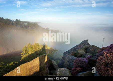 Ilkley, West Yorkshire, UK. 1st September 2017.  UK Weather: The first day of meteorological autumn brings a dramatic - Stock Photo