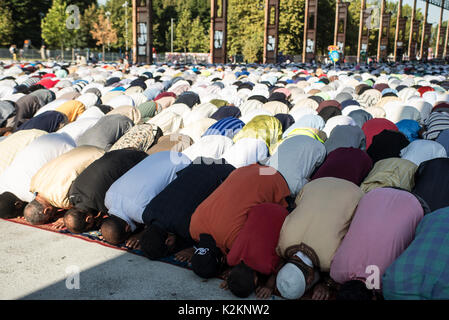 Turin, Piedmont, Italy. 1st Sep, 2017. Turin, Italy - September 1, 2017: Islamic Sacrifice Festival at Dora Park - Stock Photo