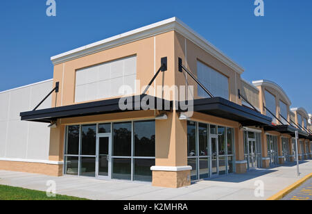 New Shopping Center with Commercial, Retail and Office Space available for sale or lease - Stock Photo