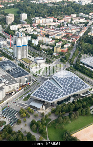 BMW World, Headquarters and Museum, Am Riesenfeld, Munich, Germany - Stock Photo