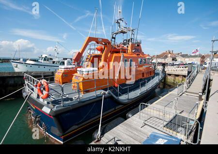 RNLI Lifeboat at Yarmouth, Isle of Wight, United Kingdom - Stock Photo