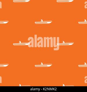 Motor speed boat pattern seamless - Stock Photo