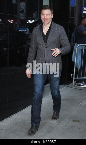New York, USA. 31st Aug, 2017. Anson Mount at Good Morning America promoting Marvel's InHumans in New York August - Stock Photo