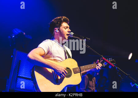 London, UK. August 31, 2017 - Former One Direction member, Niall Horan, plays his debut UK solo show at the O2 Shepherds Bush Empire in London, 2017 Credit: Myles Wright/ZUMA Wire/Alamy Live News