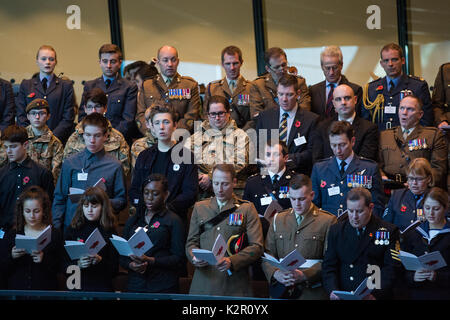 London, UK. 10th Nov, 2017. The Annual Service of Remembrance at City Hall was attended by Mayor of London Sadiq - Stock Photo