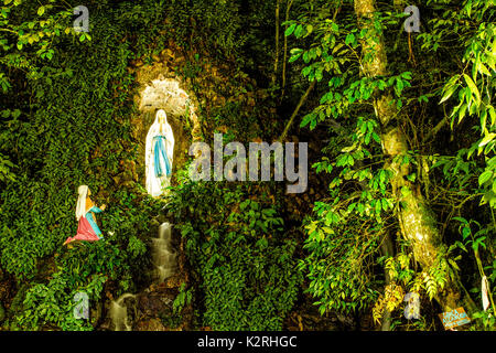 Monument in honor of Nossa Senhora de Lourdes, in the Ecological Park of Nossa Senhora de Angelina Sanctuary. Angelina, - Stock Photo