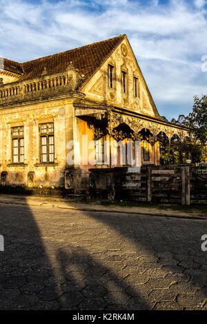 Old colonial house in Rancho Queimado. Rancho Queimado, Santa Catarina, Brazil. - Stock Photo