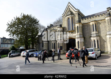 Photo Must Be Credited ©Alpha Press 079965 13/03/2017 General views of Highgate Cemetery in North London. - Stock Photo