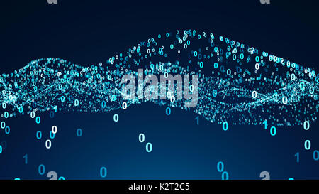 Abstract background with numbers. 3d rendered