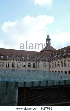 France, Alsace, Bas Rhin, Strasbourg, l'entree de l'Ecole nNational d'Administration, ENA, cree par Charles de Gaulle - Stock Photo