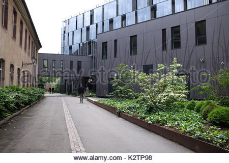 France, Alsace, Bas Rhin, Strasbourg, l'entree de l'Ecole National d'Administration, ENA, cree par Charles de Gaulle - Stock Photo