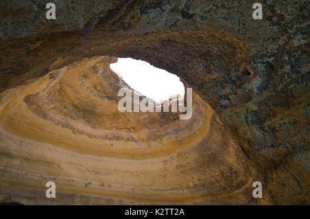 Benagil Cave in Lagoa. Algarve, Portugal - Stock Photo