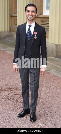 Photo Must Be Credited ©Alpha Press 079965 28/02/2017 Imran Amed during an Investiture Ceremony at Buckingham Palace - Stock Photo