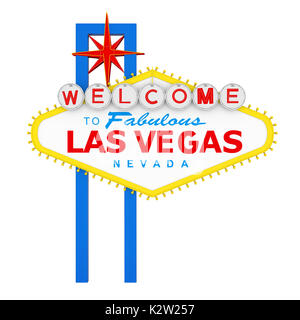 Welcome to Fabulous Las Vegas Sign Isolated - Stock Photo