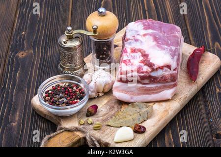 Raw pork for pickling. Studio Photo - Stock Photo