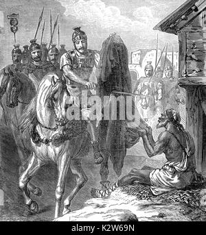The Charity of Saint Martin of Tours, Bishop of Tours - Stock Photo