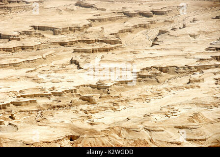 Judaean Desert near the Dead Sea. Israel - Stock Photo