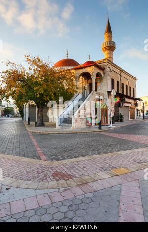 Mosque in the main square of Kos town, Greece. - Stock Photo
