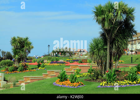 Esplanade Gardens, Cliff top Marine Parade,, Hunstanton, Norfolk, England, UK, seaside resort - Stock Photo