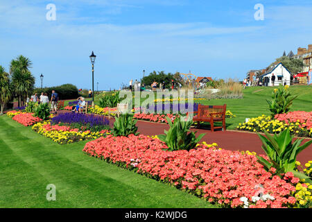 Esplanade Gardens, Cliff top, Marine Parade, Hunstanton, Norfolk, England, UK, seaside resort, coast, coastal - Stock Photo